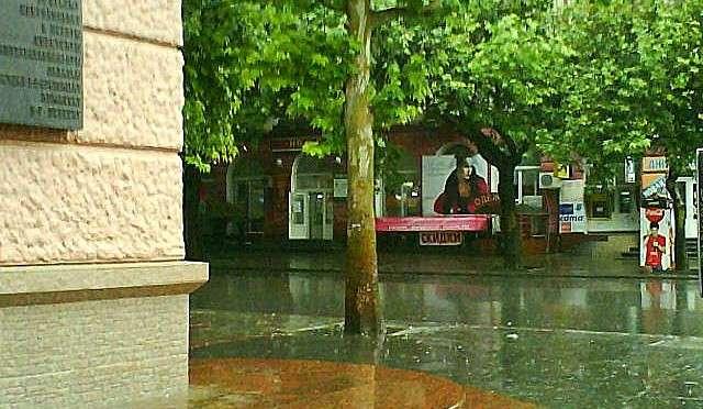 Советская во время дождя