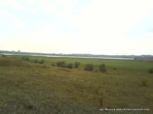 Узкая синяя полоска на горизонте - Ингул.